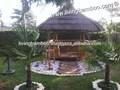 narbona de bambú gazebo techo de paja de color natural