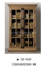 European style best price oak wood office bookshelf,classical design MDF paint filing cabinet book shelf