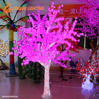 led Christmas lights tree/ artificial cherry blossom led tree lamps with transparent trunk