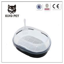 Hot sale new design transparent colour cat litter pan toilet