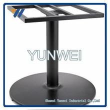 Peter Meier 1000 Series Table Height Base, 26 inch , Decorative 3-Leg, 28 inch High, Black Matte Base Cast Iron Table Leg