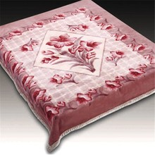 Pure Silk Blanket With 100% polyester , Double Printed raschel blanket