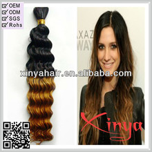 Grade AAAAA Best Price in the market Deep wave Two tone Ombre european bulk hair