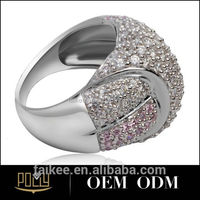 New Fashion Simple couple ring sterling silver jewelry engagement ring in 916 gold