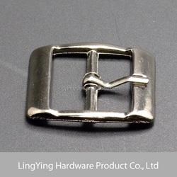 Direct manufacture made metal shoe buckle in gun metal color