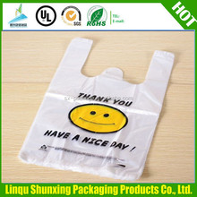 LDPE/HDPE plastic bags / recycled shopping t-shirt bag / vest bags on roll