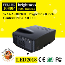 Full HD Home Cinema 1080p Projector Mini Projector With TV Tuner cheap mini portable projector
