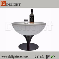 Wholesale battery power remote control glowing led bar table for night club