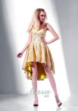 2014 espaguetis correa corto vestido de noche