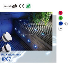 Waterproof IP67 1W 12v Outdoor in ground LED Deck Lights