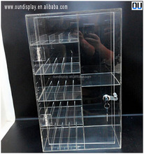 locking acrylic electronic cigarette display stand with holder for e-liquid starter kits