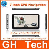 Bluetooth/Avin 7inch Auto GPS Navigation HD for Russian / Hebrew / Turkish/ Russia/ Ukraine/ Belarus with Nativel Map