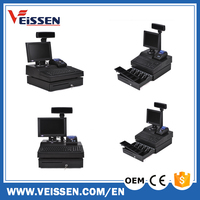 all in one cash POS system machine USB/RS232 pos cashier