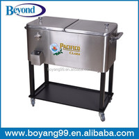 stainless steel beverage cooler cart