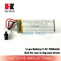 Polymer lithium-ion battery 7.4v 1000mah rc lipo battery low price.