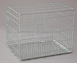 2015 Factory Direct Price Welded Wire Stainless Steel New Folding Pet House Dog Cage Dog Kennel Easy To Assemble