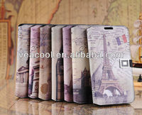 Retro Old Paris LA Tour Eiffel Tower Flip PU Leather Case Cover Skin for Samsung Galaxy Note 2 N7100 i9220 Case