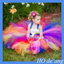 HOGIFT Easter rainbow skirt / European and American children's tutu skirt / big virgin dress