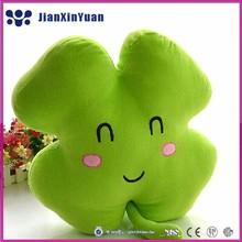 Bright Color Super Soft Lucky Clover Pillow