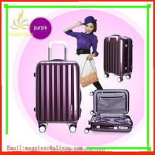 Fashionable colorful lightweight ABC+PC travel luggage