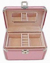 Leather Storage Gift Box For Unfinished Wood Jewelry Boxes Wholesale aluminium black