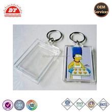 Transparent Photo Clear plastic blank acrylic keyring