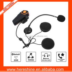 FM Radio BT Interphone Helmet Intercom Headset for Motorcyclists and Skiers