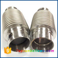 Flexible dn80 axial displacement metal expansion joint pipe engine exhaust bellow