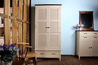 solid wooden bedroom furniture 2 doors and 1 drawer white painte bedroom wardrobe