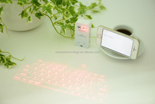 Trade assurance Wireless bluetooth virtual laser keyboard with cheap price compatible with IOS Andriod GoogleTablet Cellphone