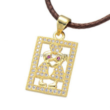 2016 leather core chain jewelry gift women Zircon fashion Lovers necklace design