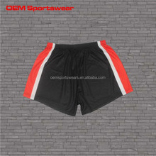 sublimation black old school basketball shorts