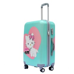 Cute Girls Cartoon Print Luggage , ABS PC Customise Print Luggage