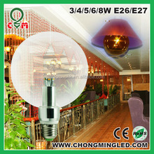LG SMD5630 chips led globe bulb 125mm 4W with 3 years warranty