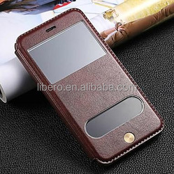 Double View Screen PU Leather Case for iphone 6