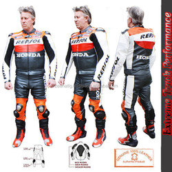 New Repsol Leather Motorbike Racing Suit 2014