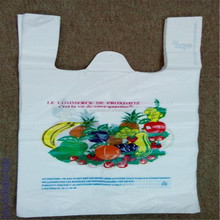 Fruit market widely used factory retail plastic T-Shirt bag