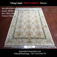 Light Color Garden Pattern Delighted Persian Silk Rug Handmade Carpet Online