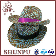 blue natural straw cowboy hat colorful baby cowboy hats