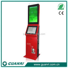 High quality floor standing Internet kiosk for payment and coupon printing -Guanri k08