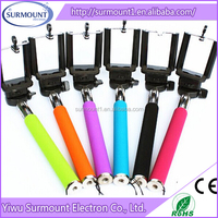 2015 Hot Selling Extendable Flexible Z07-1 Selfie Stick Monopod For Smartphone