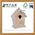 personalizar el fsc madera casa del pájaro jaula de pájaro casa del pájaro