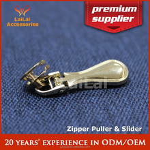 Light gold dress jeans garment metal slider