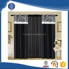 Latest curtain designs 2015 zebra flocking grommets ready made curtain