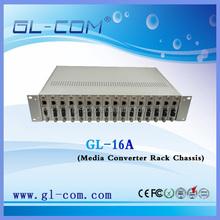 16 ports fiber optic media converter Rack Mount