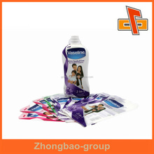 Custom best quality cheapest best quality PVC shrink wrap bottle labels for shampoo packaging