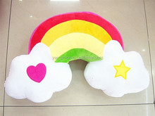 cheap decorative pillows/bright color plush pillow for sale