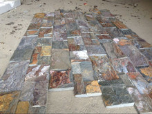 ledgestone stone panel mountain rust quartzite