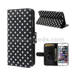 Polka Dots Pattern Wallet Leather Cover for iPhone 6