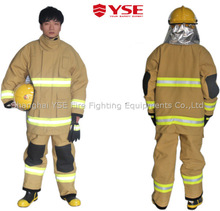 4 layer Comfortable nfpa structural protective mens fireman outfit